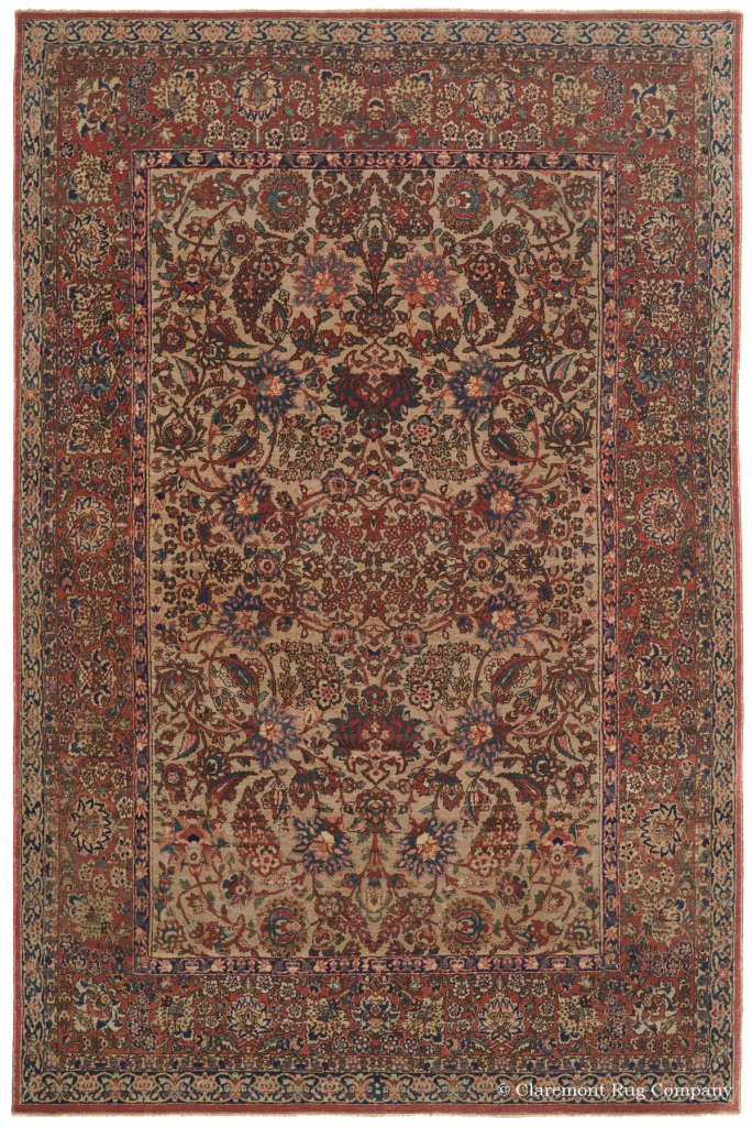 Central Persian Isfahan Antique Rug