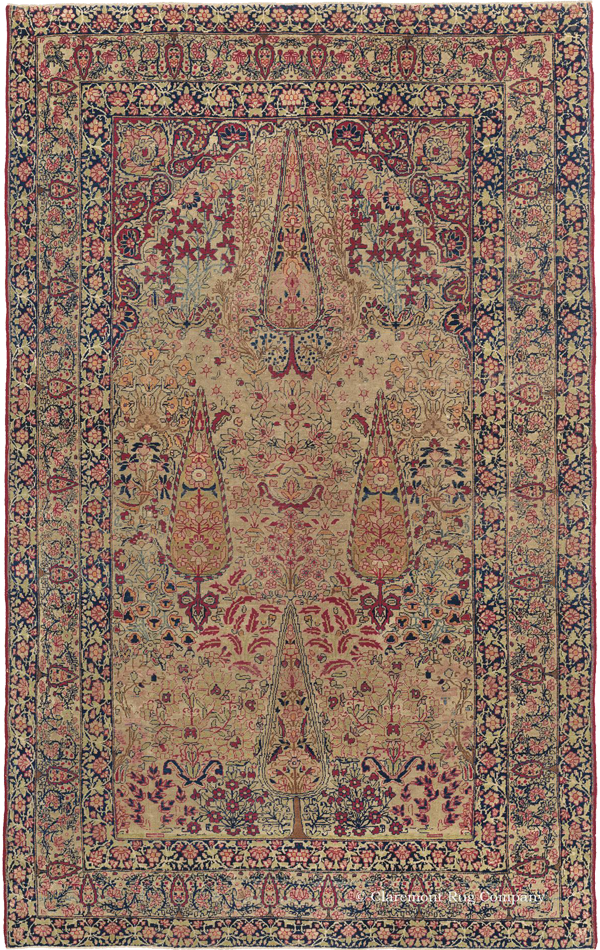 """Click for more info about this Southeast Persian """"Garden of Paradise"""" Laver Kirman Antique Rug"""
