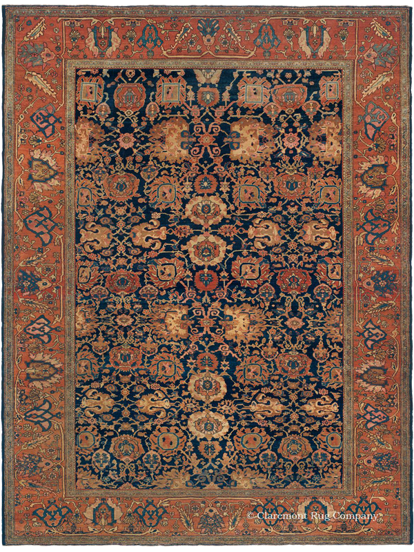 Click to learn more about this connoisseur-level Ferahan carpet