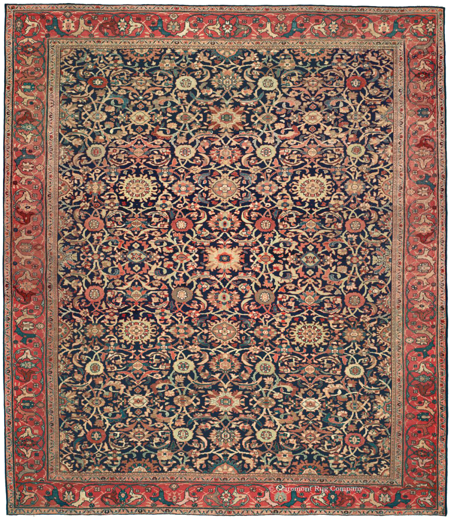 Antique Ferahan Persian Carpet