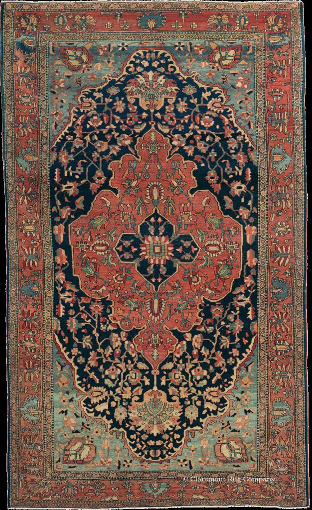 Antique Ferahan Sarouk Oriental Rug