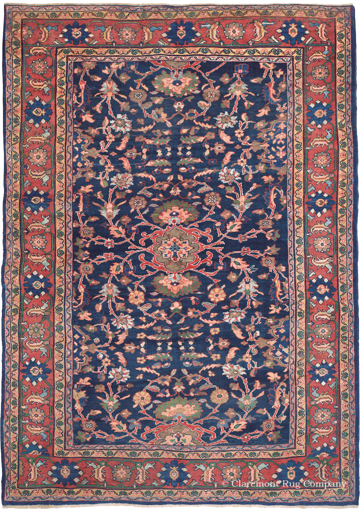 Antique West Central Persian Mahal Carpet