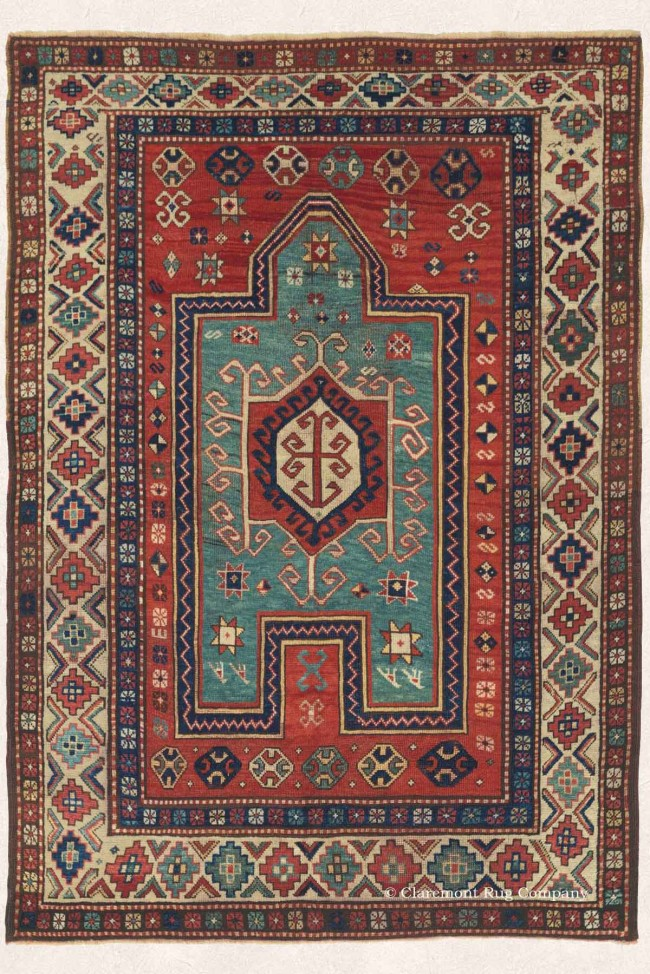 Kazak Antique Persian Caucasian Rug
