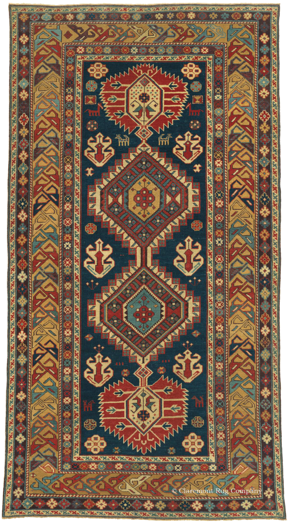 GUBPA SHIRVAN, Southeast Caucasian 3ft 8in x 6ft 8in Circa 1850