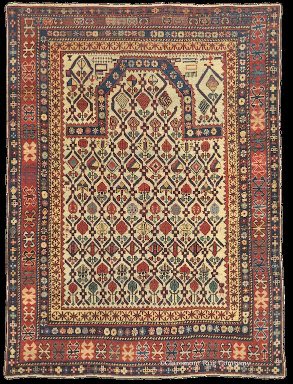 Northeast Caucasian Daghestan Antique Rug
