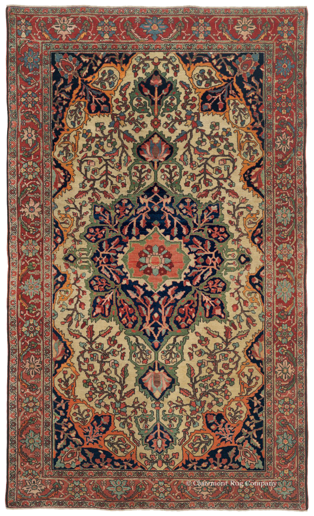 Click for a larger image of this Antique Persian Ferahan Sarouk Carpet