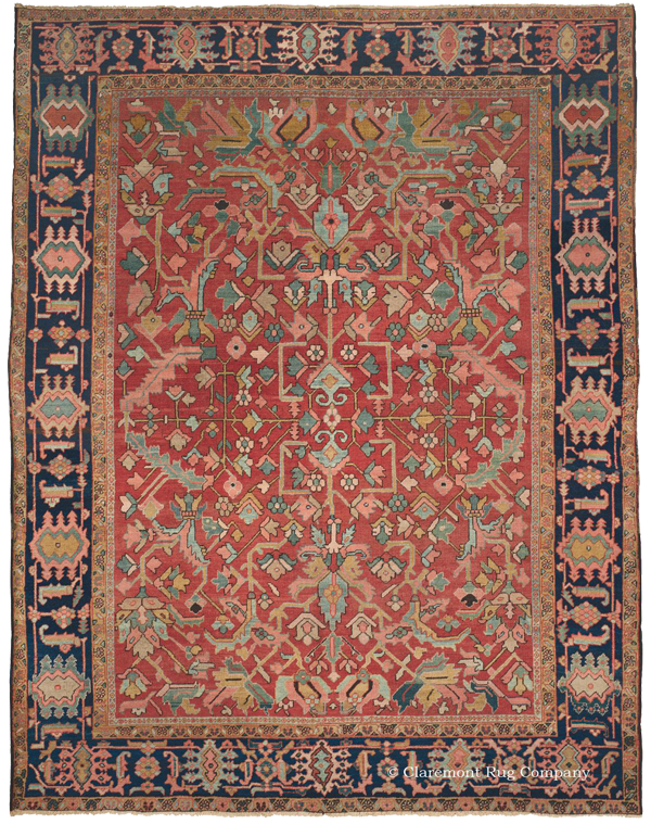 Click to learn more about this unique Northwest Persian Heriz Antique Rug