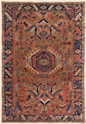 "Antique Persian Karaja Rug 7' 9"" x 11' 1"" — Late 19th Century"