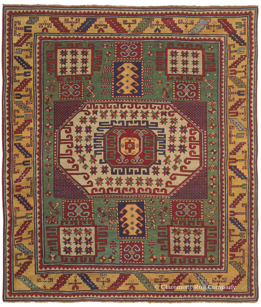 A Level 4 Caucasian Karachov Kazak rug dating from 19th Century