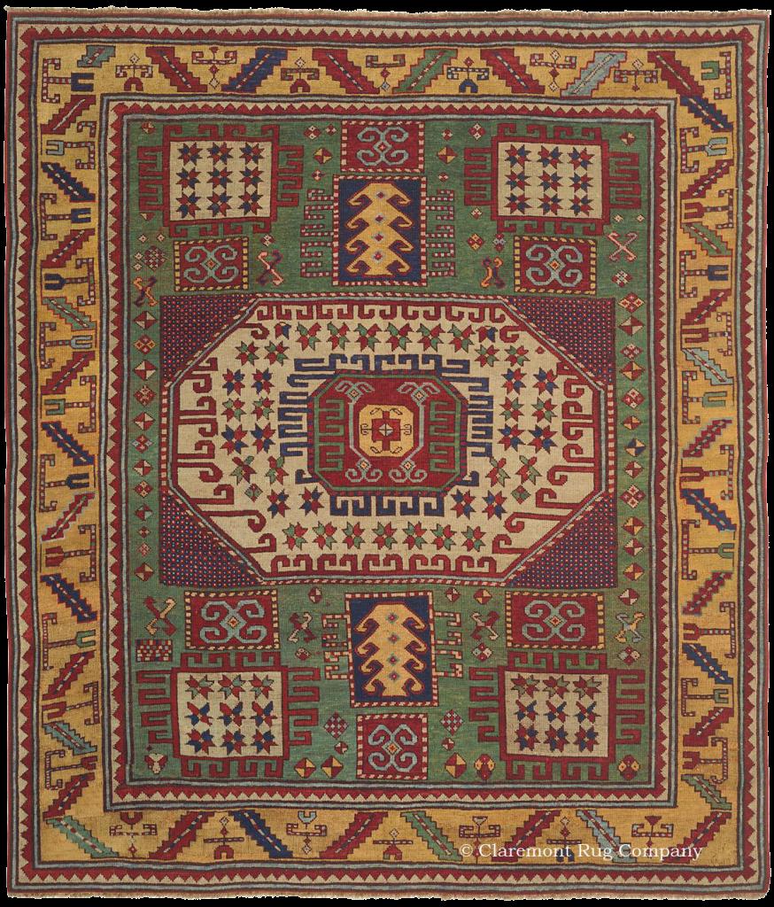 A rare Karachov Kazak Caucasian Rug