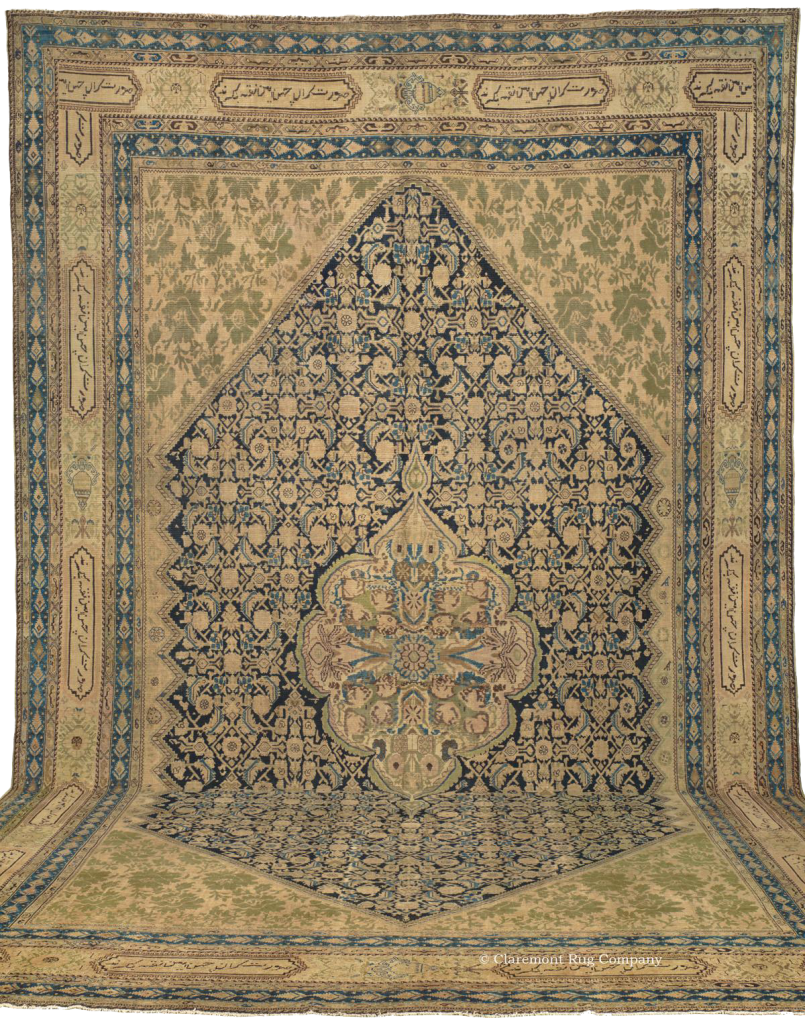 Click to learn more about this stunning oversized West Central Persian Malayer carpet