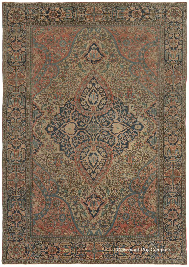 Persian Motasham Kashan Antique Rug