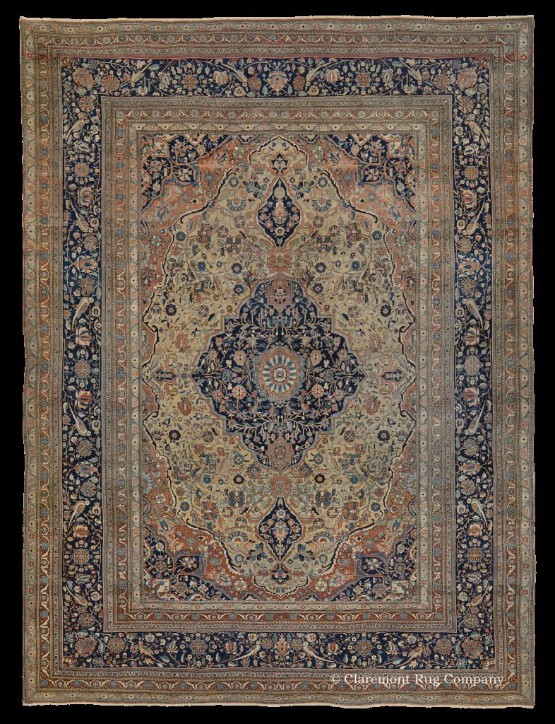 Central Persian Mohtasham Kashan Antique Rug