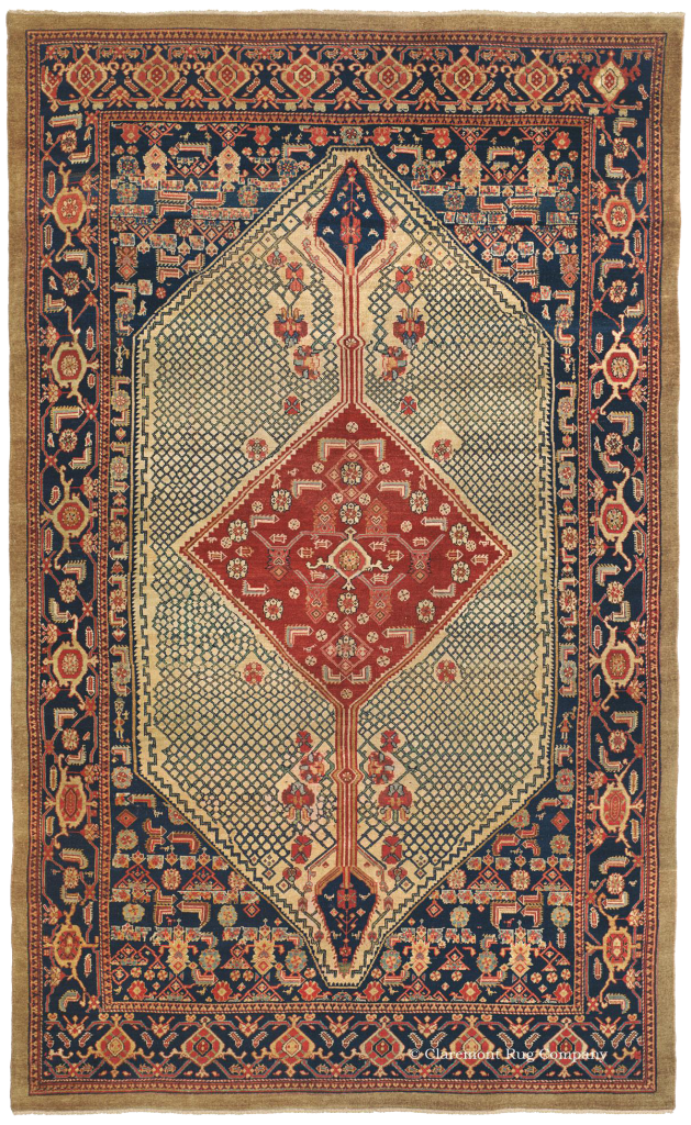 Rare antique Serab Camelhair Rug