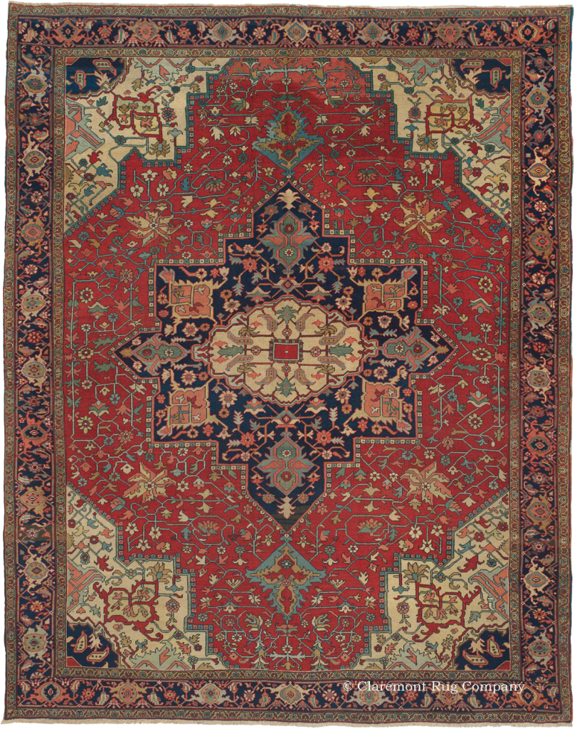Antique Serapi Rugs And Carpets From Northwest Persia
