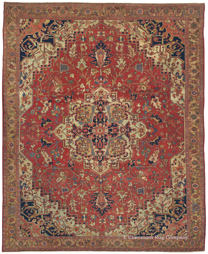 Click to learn more about this elegant room-sized Northwest Persian Serapi Rug