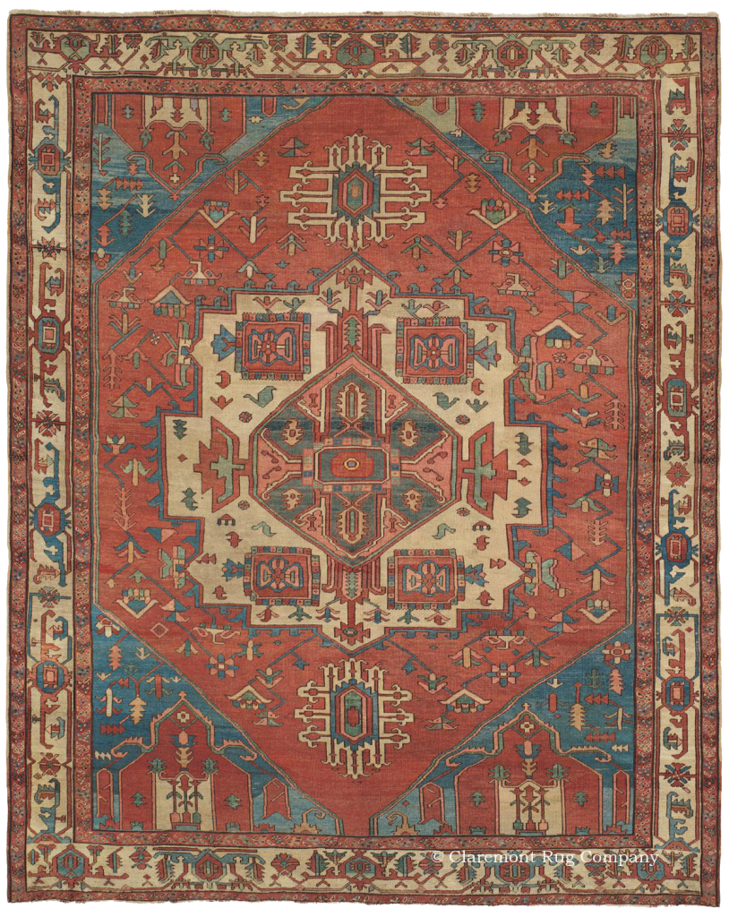 Learn More About This Northwest Persian Serapi Antique Rug In Room Size