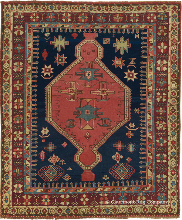 Click to see a larger image of this South Eastern Caucasian 19th Century Antique Shirvan Carpet