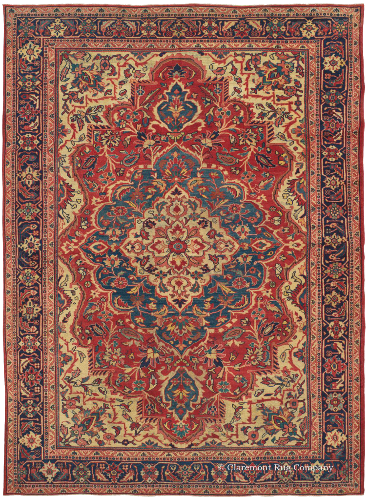 Click for more about this West Central Persian Ziegler Sultanabad Antique Rug