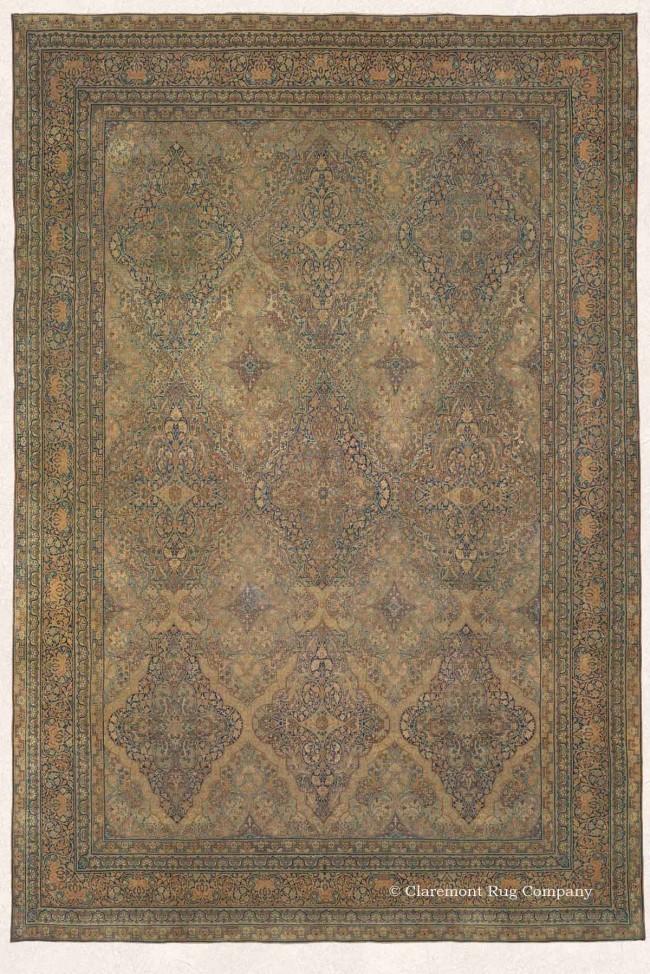 Elegant Tabriz Persian Rug in Soft Colors