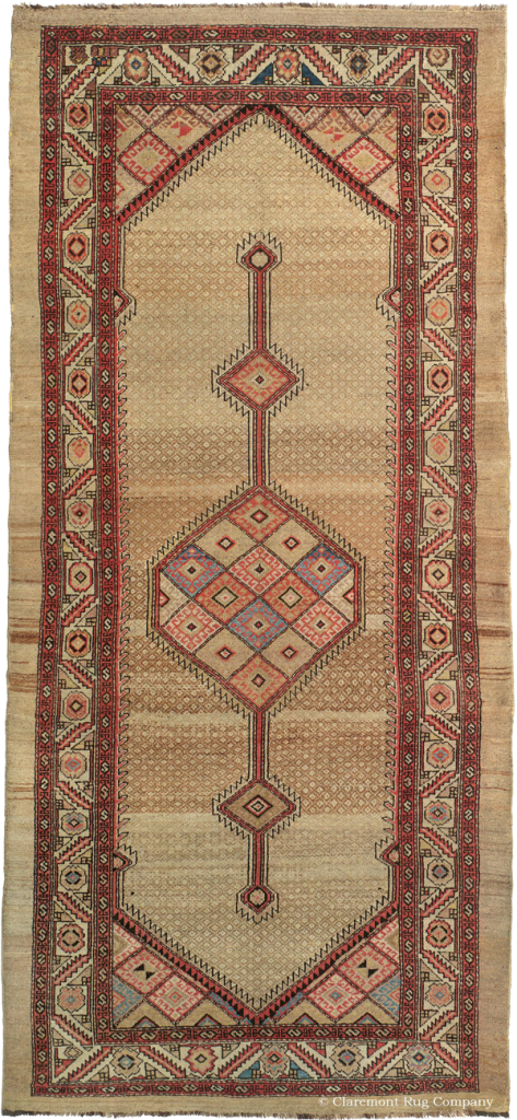 Click for more information about this Northwest Persian Kurdish Camelhair Corridor Carpet