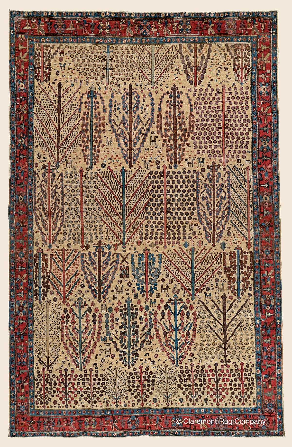 Antique Caucasian Oriental Stairway rugs displayed as wall art