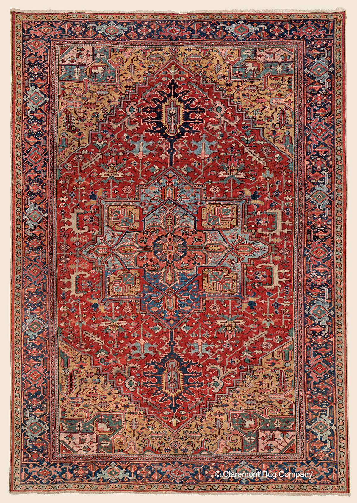 Art Of Antique Heriz Rugs Claremont