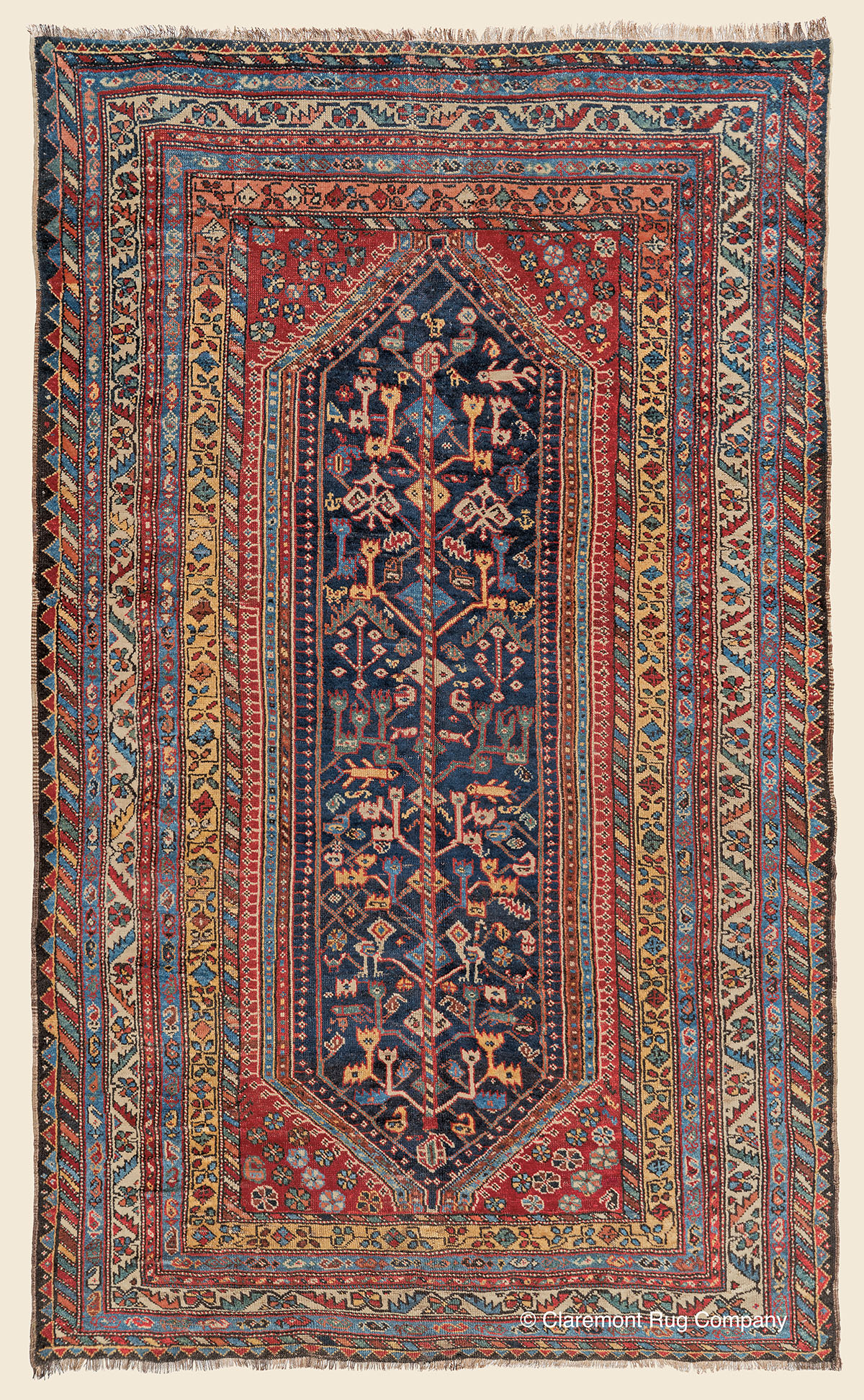 Learn more about this Antique Western Persian Luri 5ft 2in x8ft 4in Rug