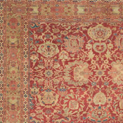 Sophistiacted Sultanabad Oversize Antique Persian Rug