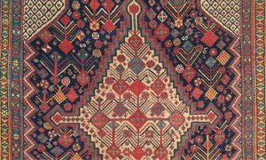 Detail of a Connisseur-level Qashqai rug