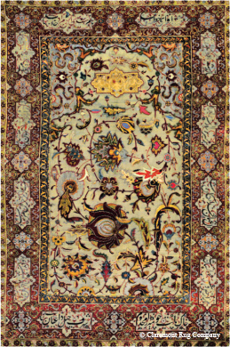 Antique Rug featured in Worth Magazine