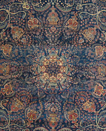 Antique Tabriz Persian Carpet Blue