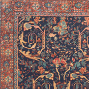 Herati Design in Tabriz Antique Oriental Rug