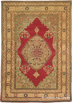 Antique Persian Hadji Jallili Tabriz 19th Century