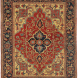 Antique Persian Serapi, 4ft 9in by 6ft 1in, Late 19th Century