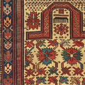 Antique Gendje, Southern Caucasian, 2ft 11in x 4ft 6in, Late 19th Century