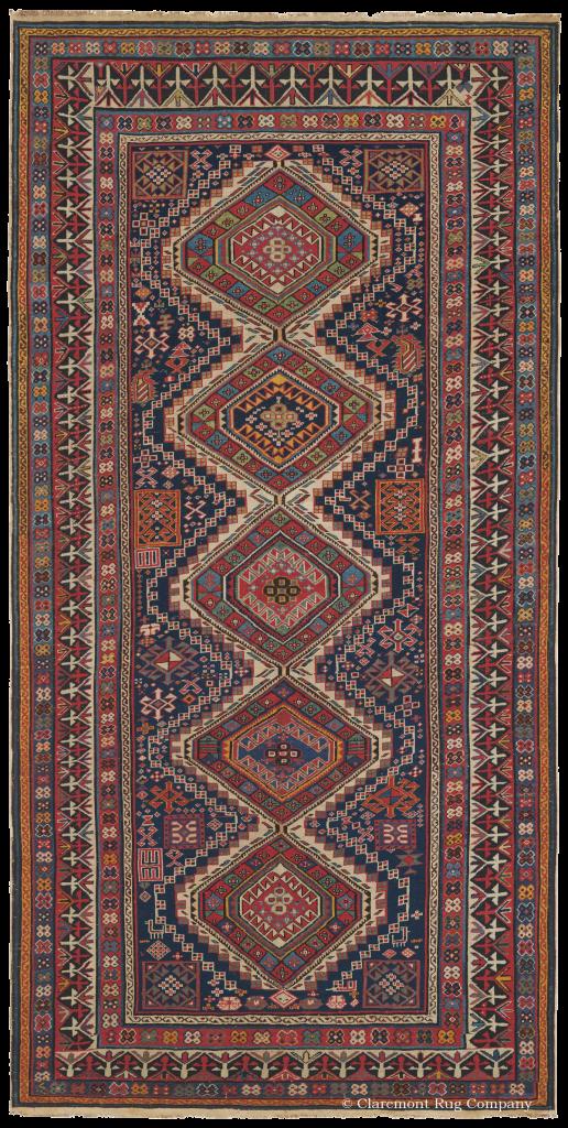 """Shirvan, Caucasus, ca. 1875 137 x 2,67 m (4' 6"""" x 8' 9""""),"""