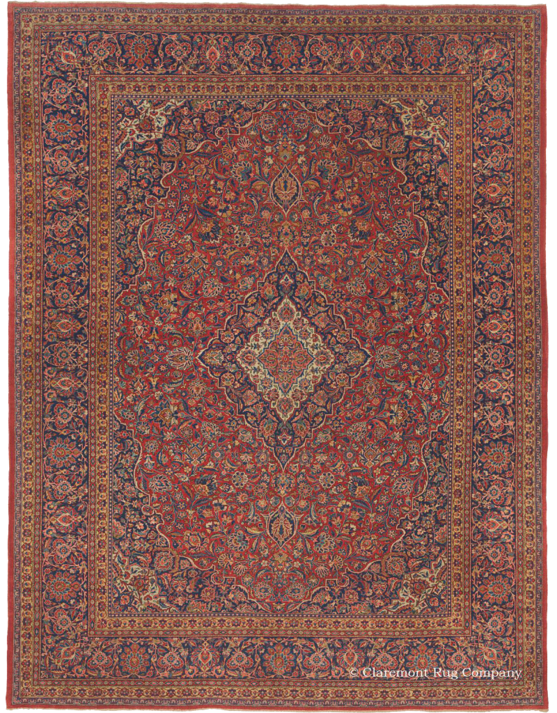 Antique Central Persian Kashan rug