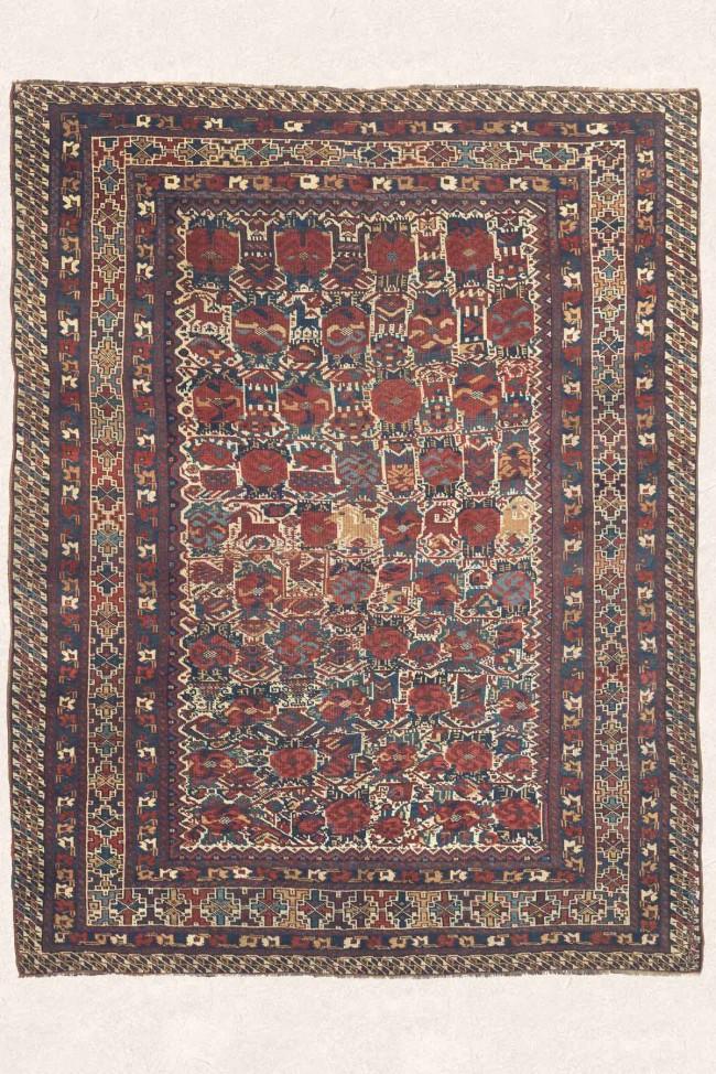 Antique Oriental Qashaqi Rug
