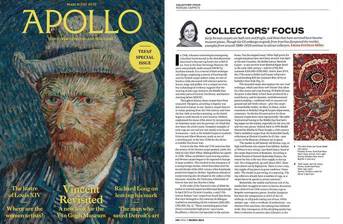 Claremont in Apollo Magazine