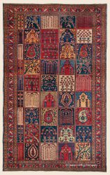 "BAKHTIARI ""GARDEN COMPARTMENT CARPET"", CENTRAL PERSIAN 7' 0"" x 11' 1"" (213cm x 338cm) — Circa 1900"