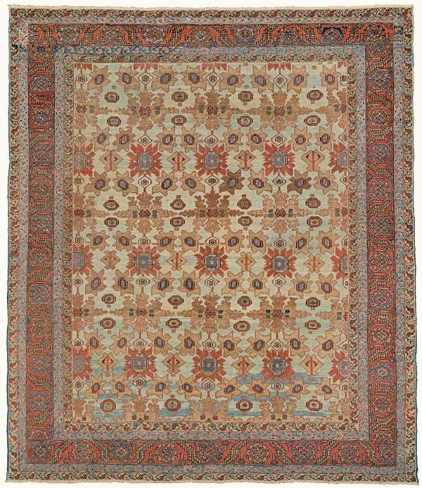 160-year-old Bakshaish Persian village carpet