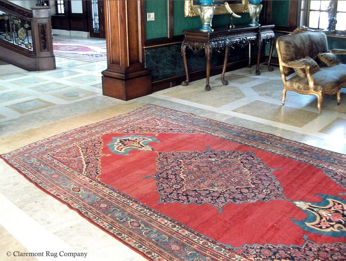 Antique Persian Collectible Bijar Rug 20ft 7in x2ft