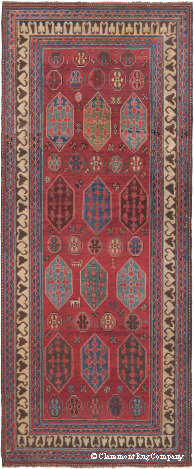 Antique Kazak Rug featured in the Boston Globe