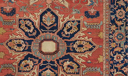Antique Persian Serapi Circa 1875 | Demonstrating The Geometric Majesty And  Saturated Hues That Makes This Style So Beloved.