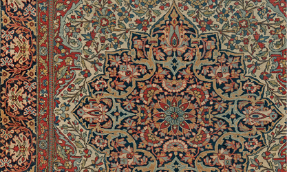 Antique Persian Motasham Kashan 3rd Quarter, 19th Century | Presenting The  Complex Floral Style With Its Classical Graciousness And Superb  Craftsmanship.
