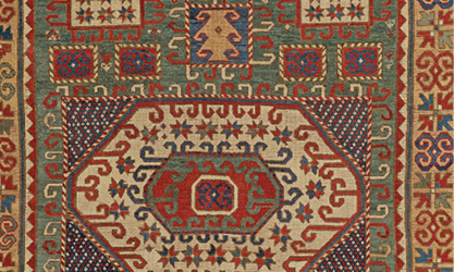 Antique Caucasian Karachov Kazak 3rd Quarter, 19th Century | Exemplifying  Some Of The Enigmatic, Symbolic Pattern Language Created By 85 Subgroups  Within ...