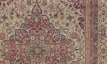 Antique Persian Laver Kirman Circa 1850 | Offering The Quintessence Of  Elegance Achieved By This Floral Type, Often With An Ivory Base And Both  Pastel And ...