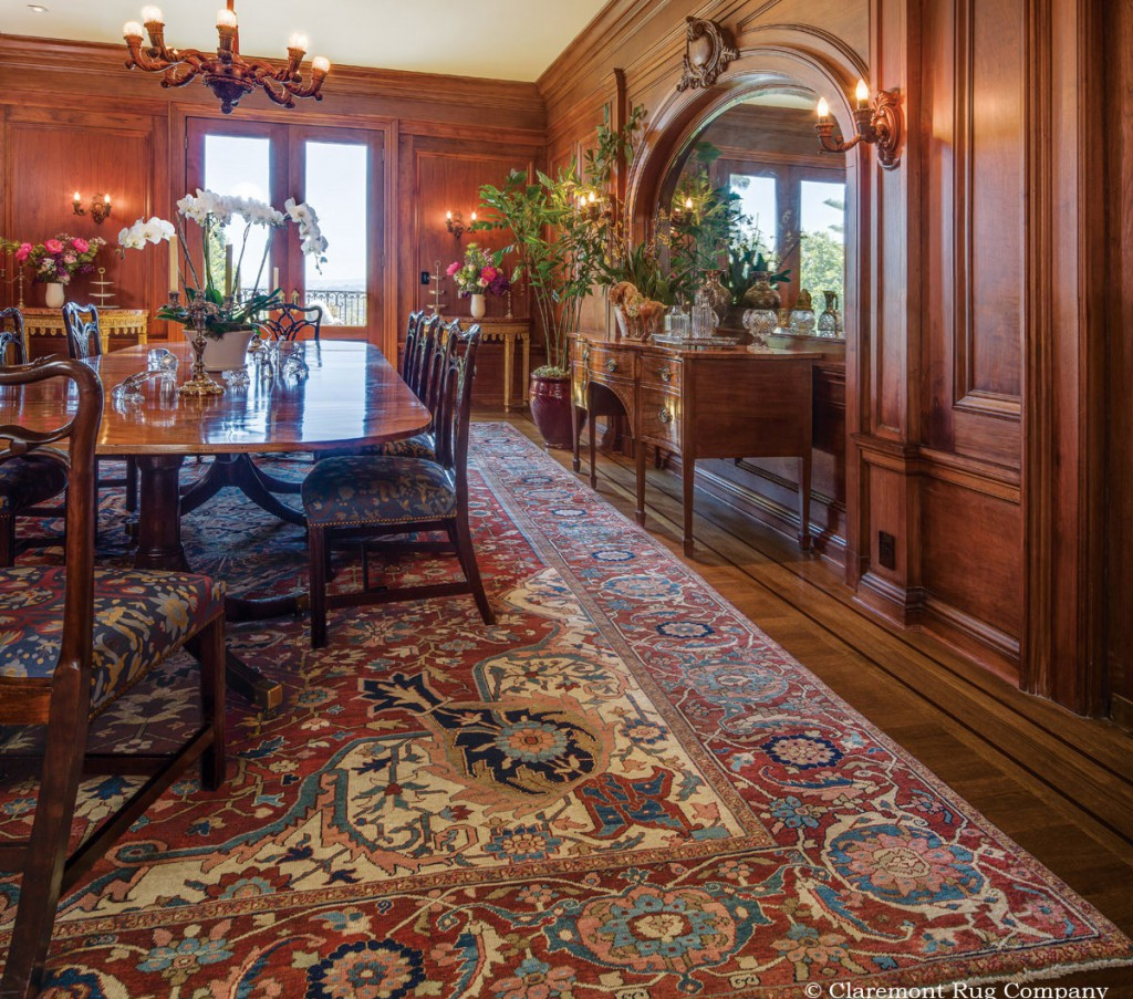 Chubb-Persian-Serapi-oversize-antique-carpet-in-grand-traditional-dining-room