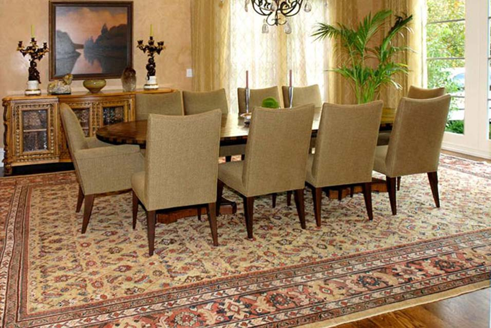 with art level antique oriental rugs as interior design center pieces